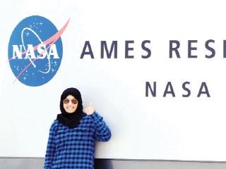 هيام البلوشي في «ناسا» (من المصدر)