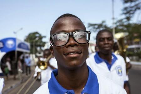 موسى باباي أحد الناجين من فيروس الايبولا في ليبيريا. أرشيف رويترز