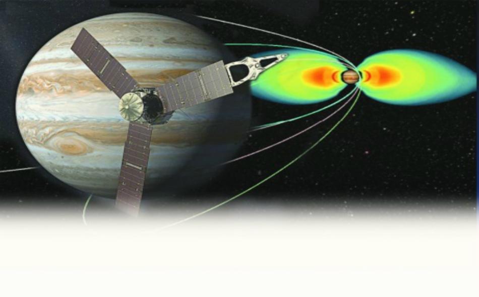 تدرس طقس الكوكب الغازي وبيئته المغناطيسية.
