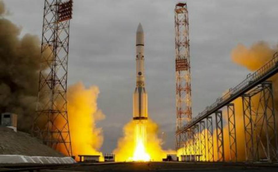 صاروخ يحمل مركبة الفضاء إكسومارس 2016 الى المريخ يطلق من منصة بقاعدة بايكونور في كازاخستان يوم 14 مارس آذار 2016. صورة: شامل زوماتوف