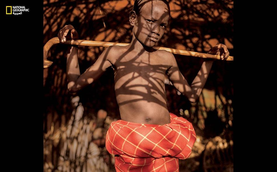 """لوبيوك كاغيتي من كينيا. """"أفضل ما في كوننا أولاداً هو أننا ذكور""""."""