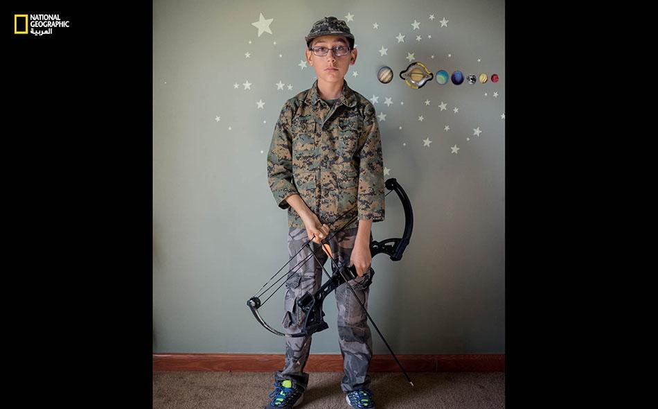 """رايلي ريتشاردز من الولايات المتحدة. """"أرجو عندما أكبر أن ألتحق بقوات العمليات الخاصة (SEALs) لأحمي وطني، إذ إن الأشرار قتلوا مواطنين من بلادي""""."""