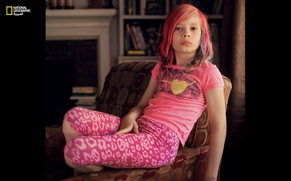 """إيفري جاكسون من الولايات المتحدة. """"أجمل ما في كوني بنتاً، هو أنني لم أعد مضطرة لأن أتظاهر بكوني ولداً""""."""