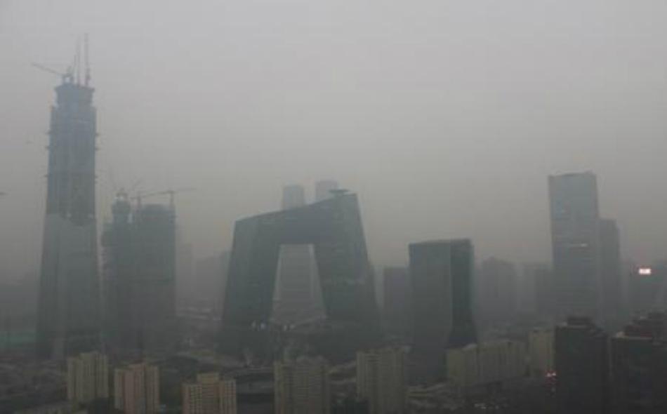 تلوث في هواء العاصمة بكين يوم 18 نوفمبر 2016.