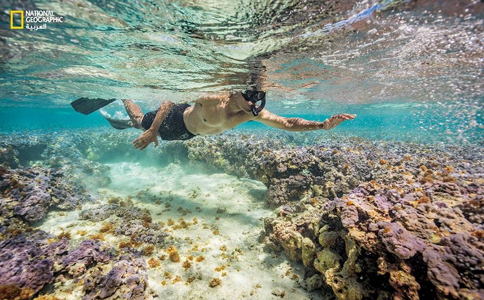 """يقول المصور الفوتوغرافي """"براين سكيري"""": """"بالنسبة إلى شخص من طينة أوباما يزدحم جدول أعماله بكثير من الارتباطات الرسمية، فإنه لابد أن يكون الخروج في رحلة إلى وسط المحيط مصدر متعة حقيقية""""."""