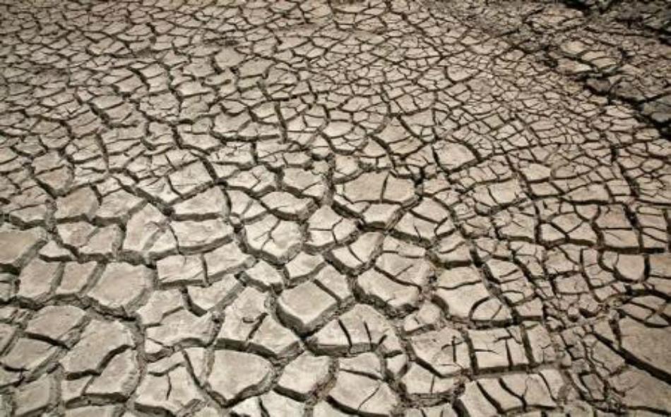 أرض تعاني من الجفاف في بوليفيا.