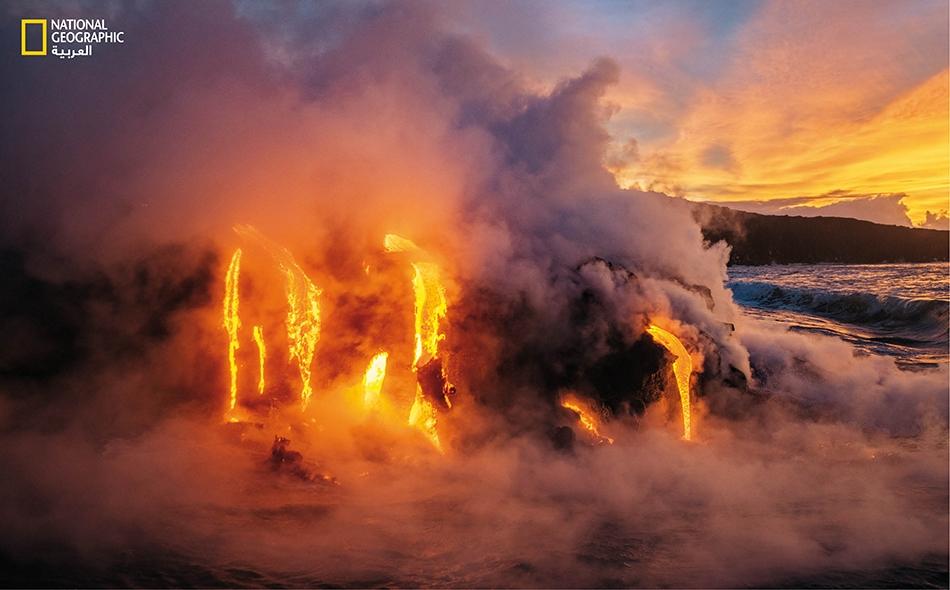 أنفاق بركانية