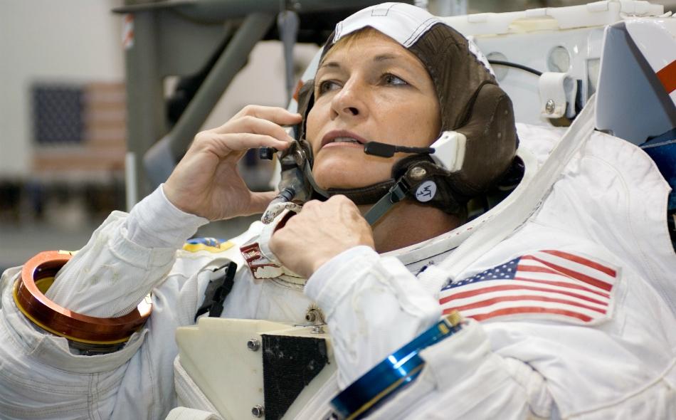 رائدة الفضاء الأمريكية بيغي ويتسون. الصورة: Spaceflight.Nasa