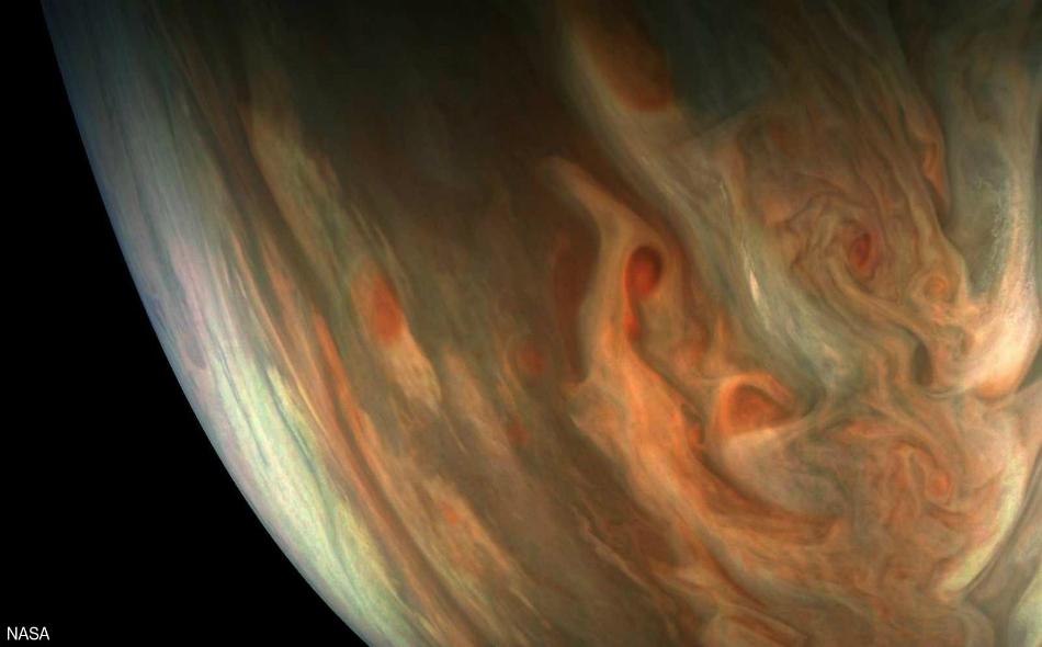 الصورة أظهرت تفاصيل دقيقة لكوكب المشتري.
