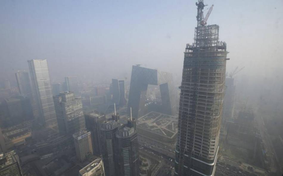 """دخلت الصين عامها الرابع من """"الحرب على التلوث"""" التي تهدف لمعالجة الضرر الناجم عن عقود من النمو الاقتصادي الجامح."""