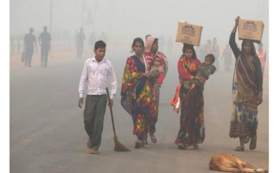 تفاقم تلوث الهواء عقب موسم الحصاد وحرق القش. الصورة: AFP