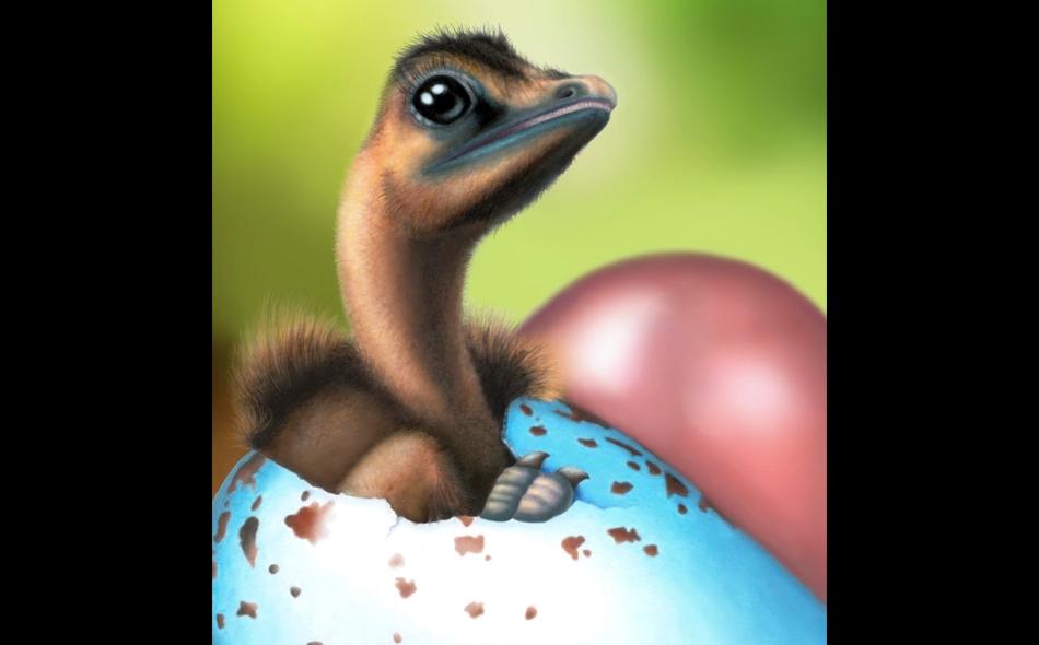 """لقطة توضيحية لبيض ديناصورات ملون من """"جاسمينا وايمن""""، عالمة الحفريات بجامعة ييل. الصورة من المصدر"""