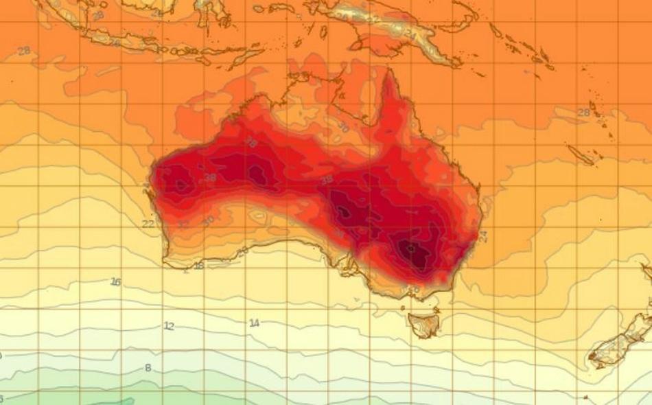 شهد عام 2018 موجة جفاف شديد ضربت أجزاء كبيرة من أستراليا، وموسم حرائق غابات استمر أطول من المعتاد. وزادت درجات الحرارة القصوى في أنحاء أستراليا 1.55 درجة مئوية عن المتوسط، وتلت مباشرة عام 2013 وهو الأعلى حرارة. الصورة: Bureau of Meteorology