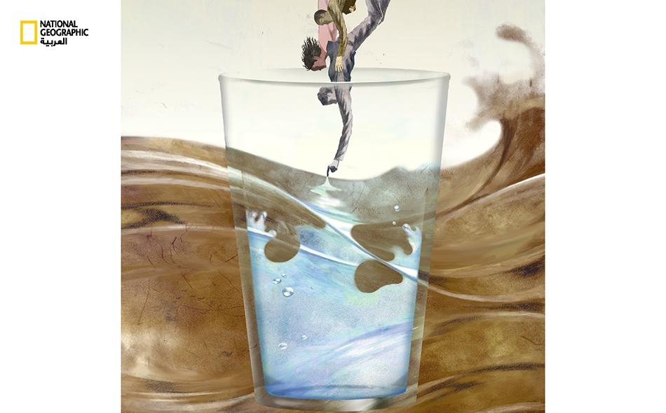 """2.1 مليار شخص في جميع أنحاء العالم يفتقرون إلى شبكات مياه الشرب الآمنة، حسب """"لجنة الأمم المتحدة المعنية بالموارد المائية""""."""