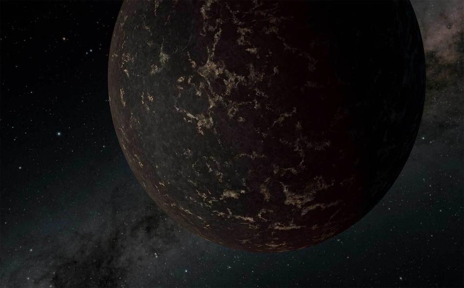 """رسم تصوري الكوكب الصخري """"إل.إتش.إس 3488 بي"""" الواقع خارج المجموعة الشمسية. المصدر: NASA/JPL-Caltech/R. Hurt (IPAC)"""
