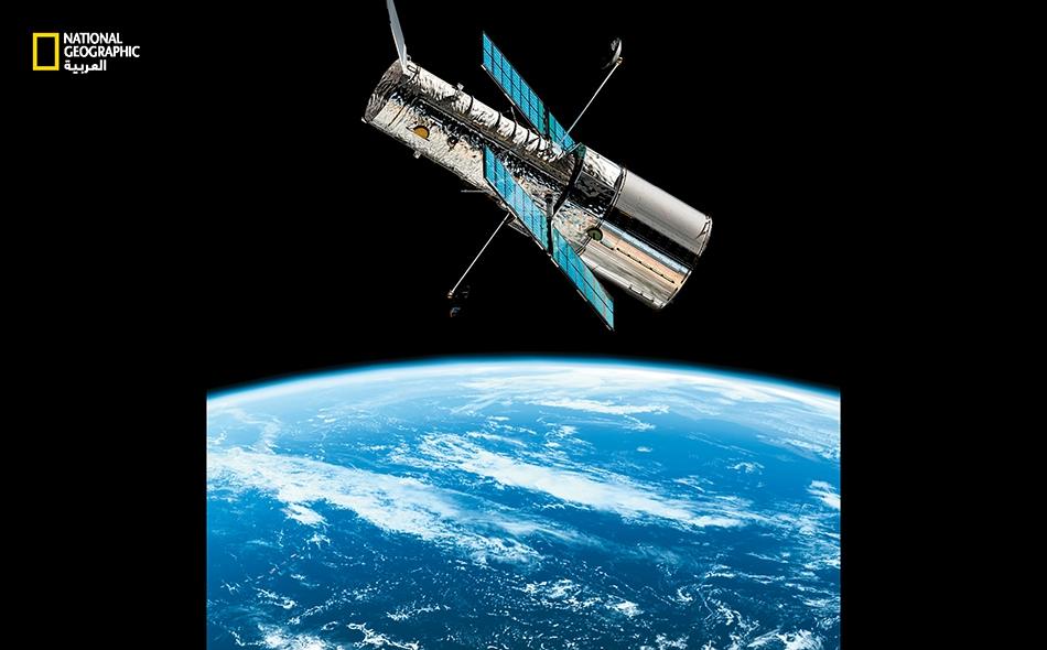 """في نظر وكالة """"ناسا""""، يُعـدّ """"هابل"""" أحد أفضل استثماراتها. يدور هذا التلسكوب في فلك حول الأرض بارتفاع 547 كيلومترًا."""